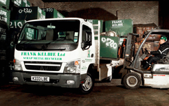 The new 3.5-tonne Fuso Canter light truck bought by scrap metal business in Dundee Frank Kelbie Ltd