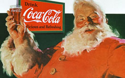 Artist Haddon Sundblom's first Coca-Cola Santa Claus had its debut in 1931 - now designated drivers can benefit from their example with a free Coca-Cola or Diet Coke as part of the government's THINK! drink drive campaign