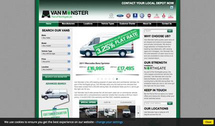 There's nothing scary about Van Monster website