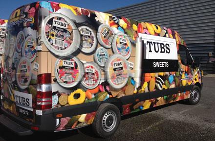 Tubs Sweets Mercedes Sprinter van supplied by Northgate