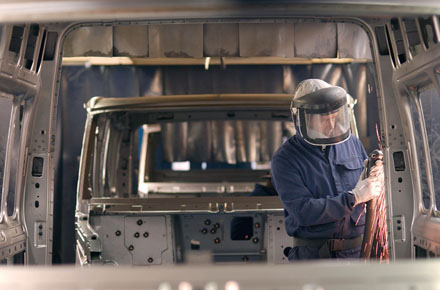 Paint inspection at the Southampton Ford plant