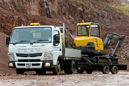 Fuso Canter pulls its weight for plant-hire firm