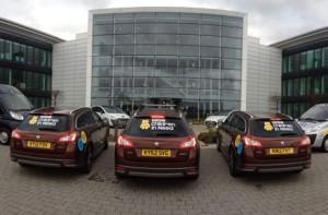 Peugeot Team Rickshaw Challenge support fleet