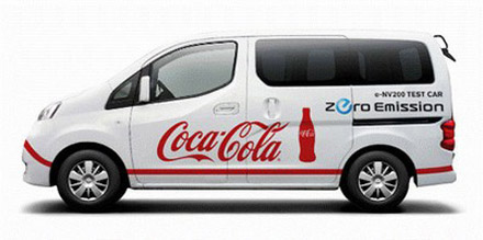 Coca-Cola Central Japan Co will evaluate the e-NV200's performance against internal-combustion engine vehicles