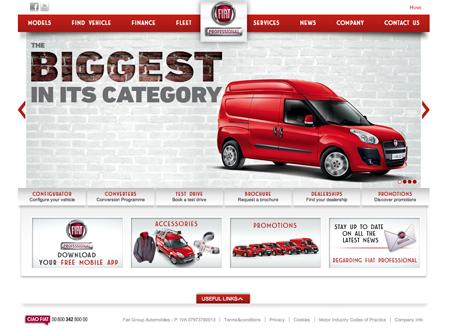 New Fiat Professional website offers comprehensive facilities for van buyers