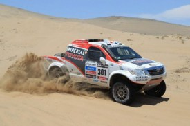 Toyota Hilux takes second place in 'word's toughest' rally