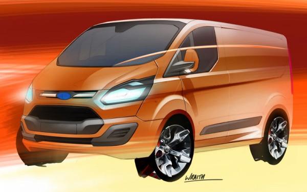 Ford Transit Custom original sketch