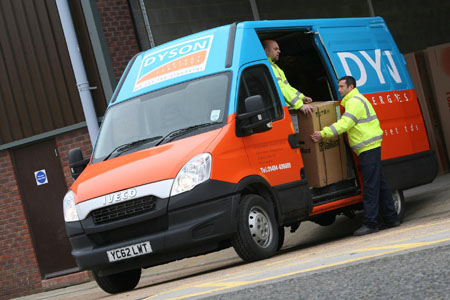 Iveco Dailys help Dyson turn up the heat