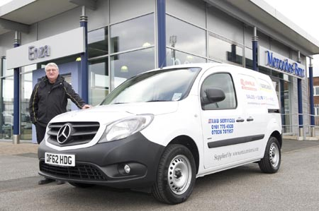 Pressure washer company cleans up in Mercedes Citan completion