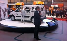 Scott Michael presents the Citroen Berlingo Electric at the CV Show