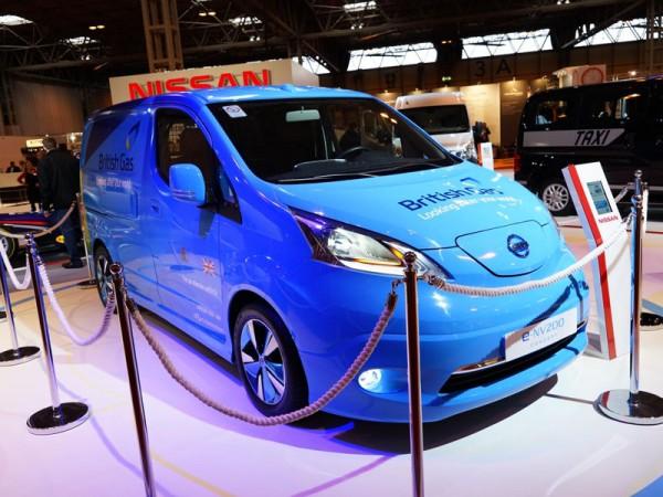 British Gas Nissan eNV200 at the CV Show