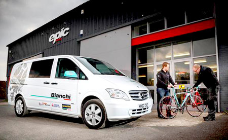 Mercedes-Benz Vito Dualiner is new ride for top cycle maker Bianchi