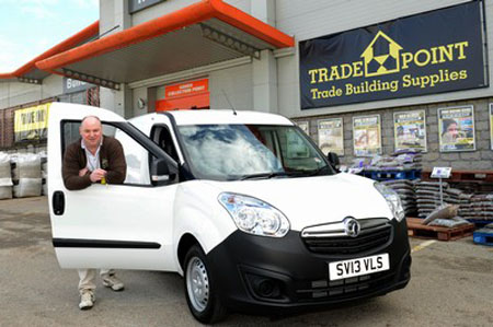 All smiles as Stuart bags van-tastic Vauxhall Combo prize