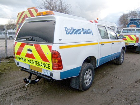 Hardtops increase security and flexibility for Balfour Beatty pick-ups
