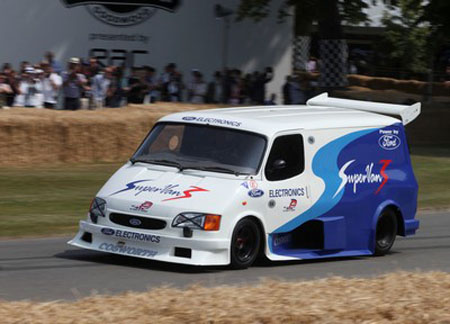 Ford's 150mph Transit wows the crowds at Goodwood