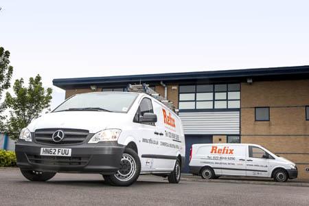 Refix puts its electricians in Mercedes-Benz Vitos