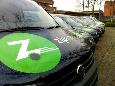 Zipcar van fleet graphics