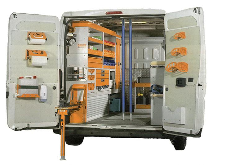 Order System Racking For Your Van Business Vans