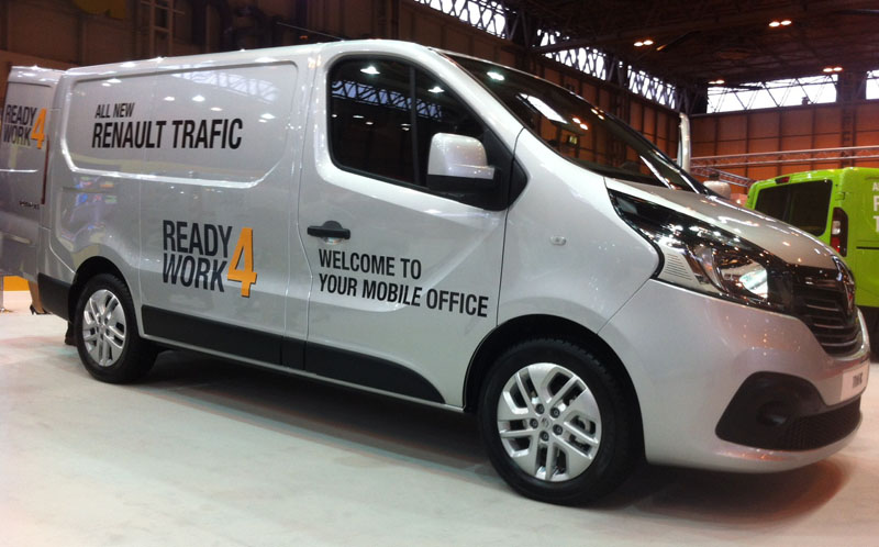 The all new Renault Trafic kitted out and Ready 4 Work is on show at