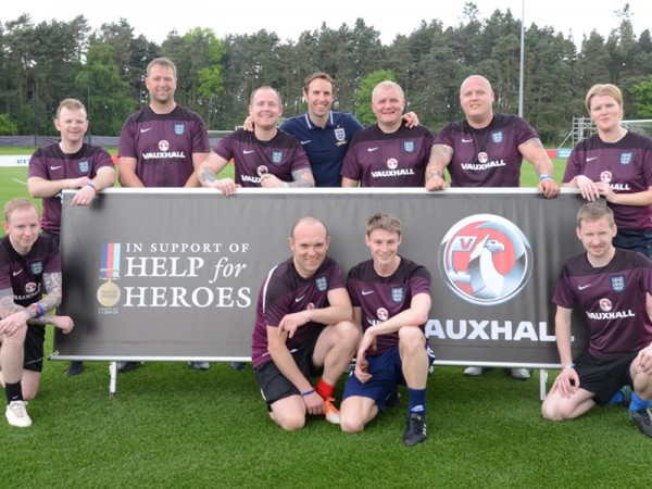 Vauxhall and Gareth Southgate hold unique training session with Help for Heros.