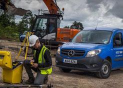 Surveyor with Mercedes Citan