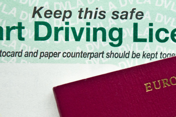Paper counterpart driving licence