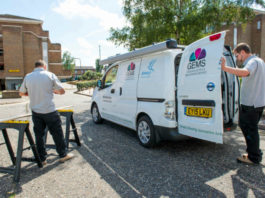 Housing Association with electric Nissan e-NV200 van