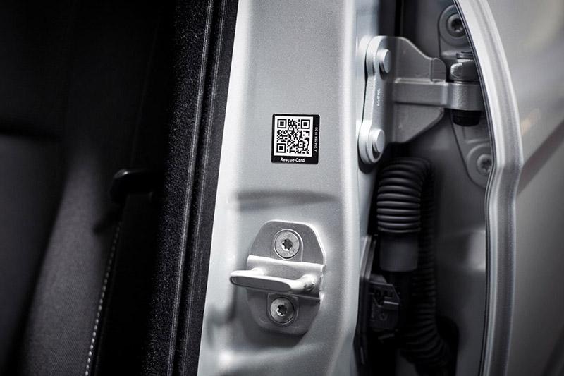 Mercedes Rescue Assist QR code