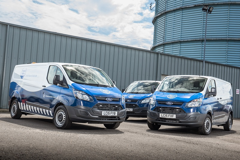 Ford Transits feature in Ford's successful Thames Water tender