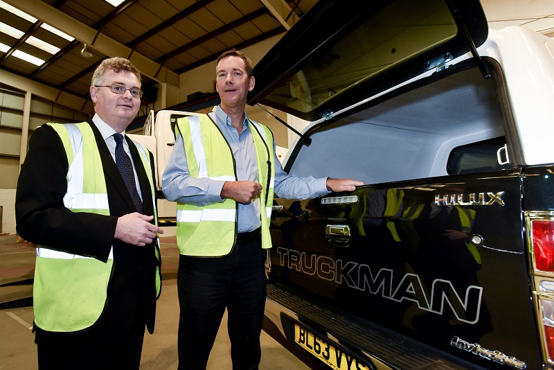 Andrew Wynne (left) and Mike Wheeler (right) in Auto Styling Truckman's new premises