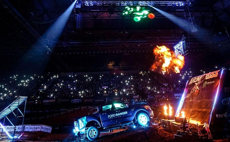 The new Ford Ranger starring in Arenacross