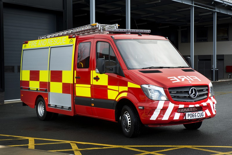 Sprinter fire engine business car manager for Mercedes benz christmas commercial