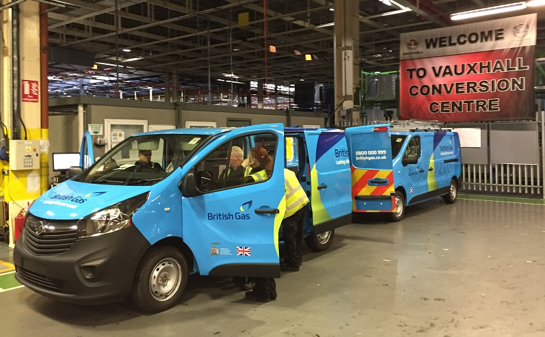 Vauxhall British and Scottish Gas Vivaros nearing completion