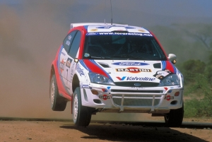 World Rally Champion Colin McRae in action