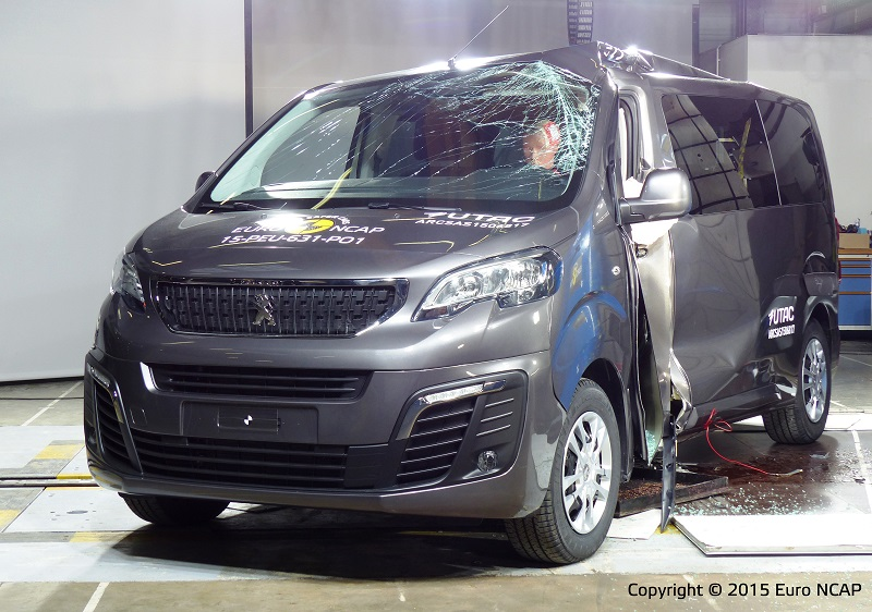 Peugeot Traveller EuroNCAP pole crash