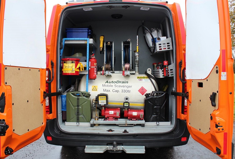 The RAC's Renault Master fuel patrol van to assist motorists who have mis-fuelled