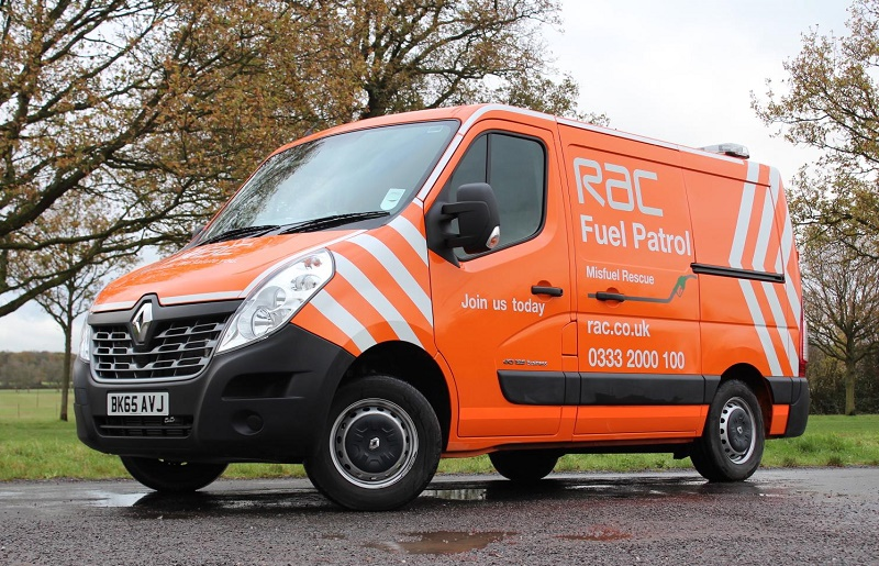 The RAC's new Renault Master fuel patrol van