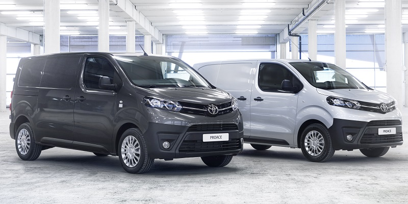 Compact and medium versions of the new Toyota Proace vans launched at CV Show