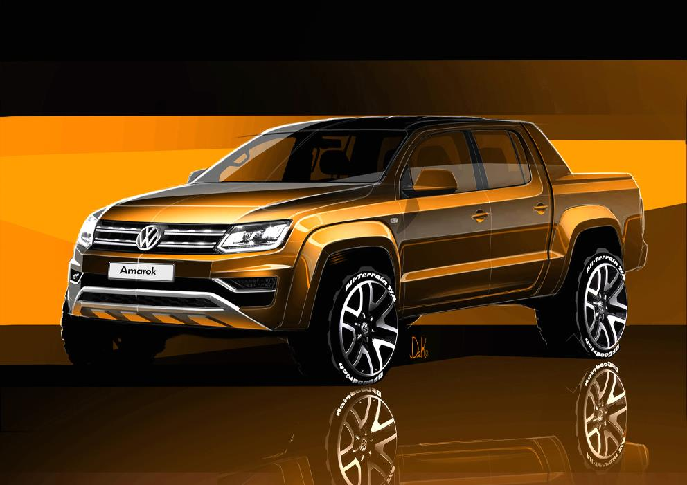 Bold lines of the new Amarok