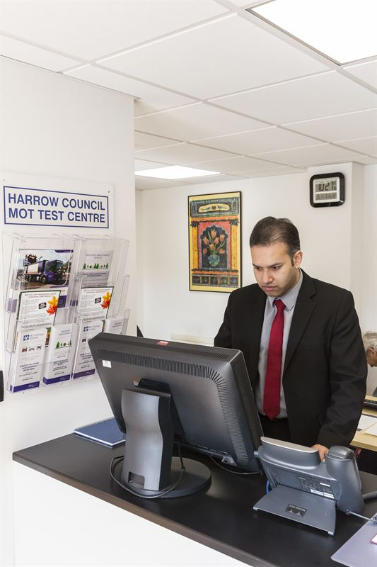 Reception of the new Fraikin MOT test centre at Harrow