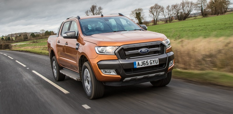 Facelifted Ford Ranger Wildtrak on the road