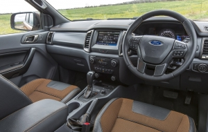 Car features in cab of Ranger Wildtrak