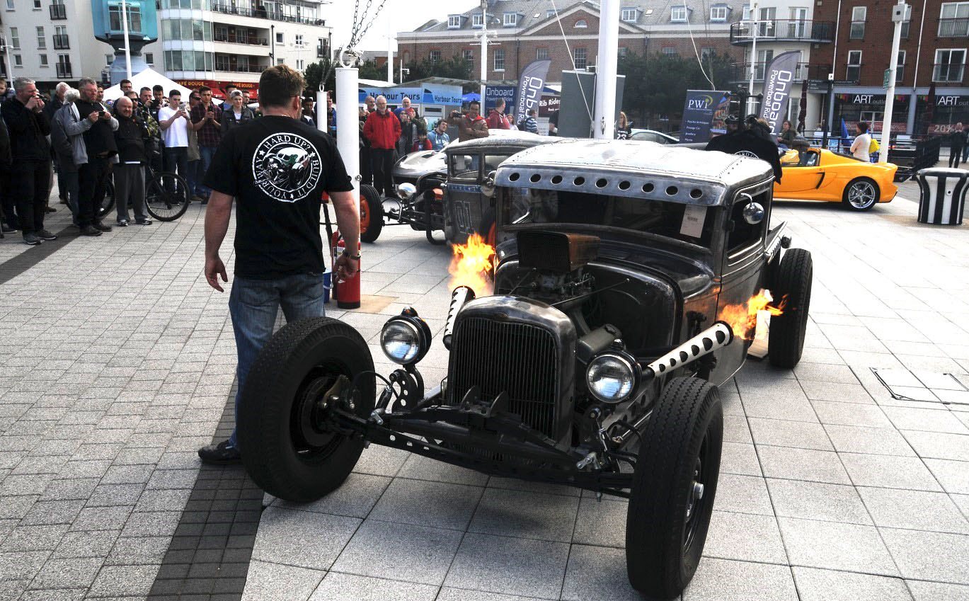 Hard Up Garage's hotrod pick-up puts on a show