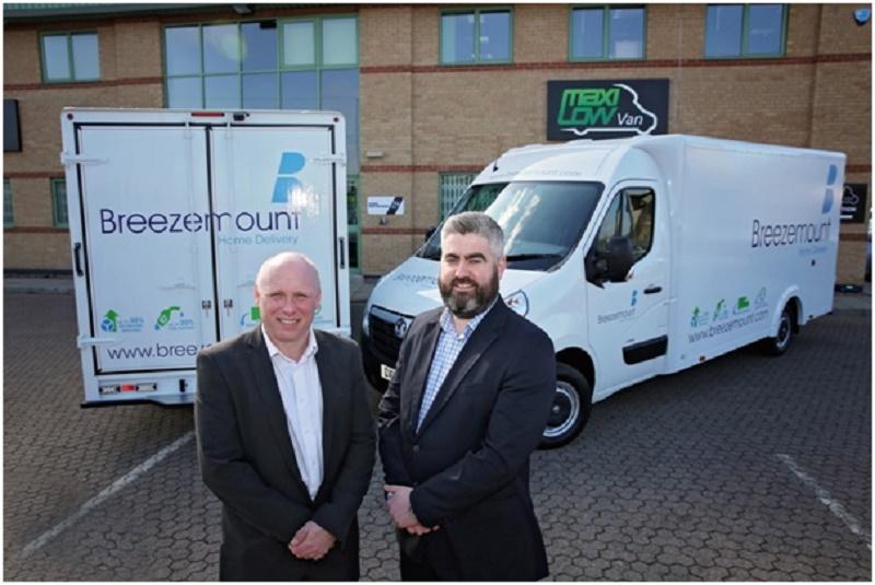 Breezemount head of fleet Graham Brooks and MD Aaron Shields with the new MaxiQube vans.