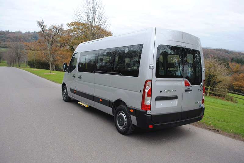 Clean lines of the GM Coachwork minibus conversion of the award winning Vauxhall Movano