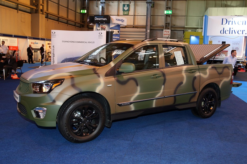 SsangYong's Korando Sports made its debut in camo among launches at the CV Show 2016