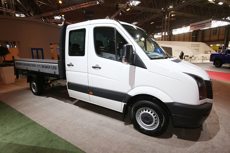 The new Volkswagen Crafter pick-up among new launches at CV Show 2016
