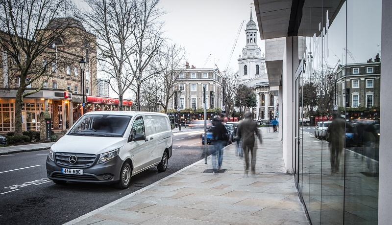 The number of vans on UK roads has topped 4 million