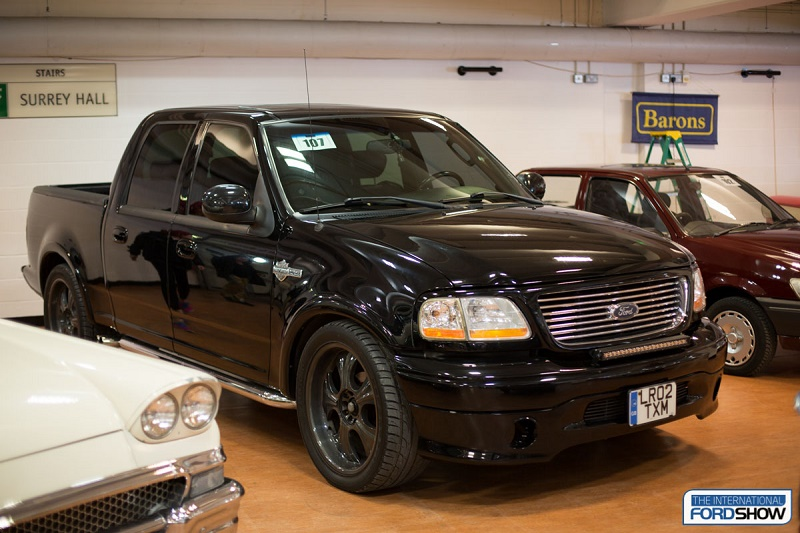 The ex-David Beckham Ford F1-150 Harley Davidson Edition pick-up under the hammer at Barclays auction