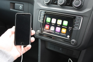 Apple Car Play is handy on the Caddy, for music, phone and satnav